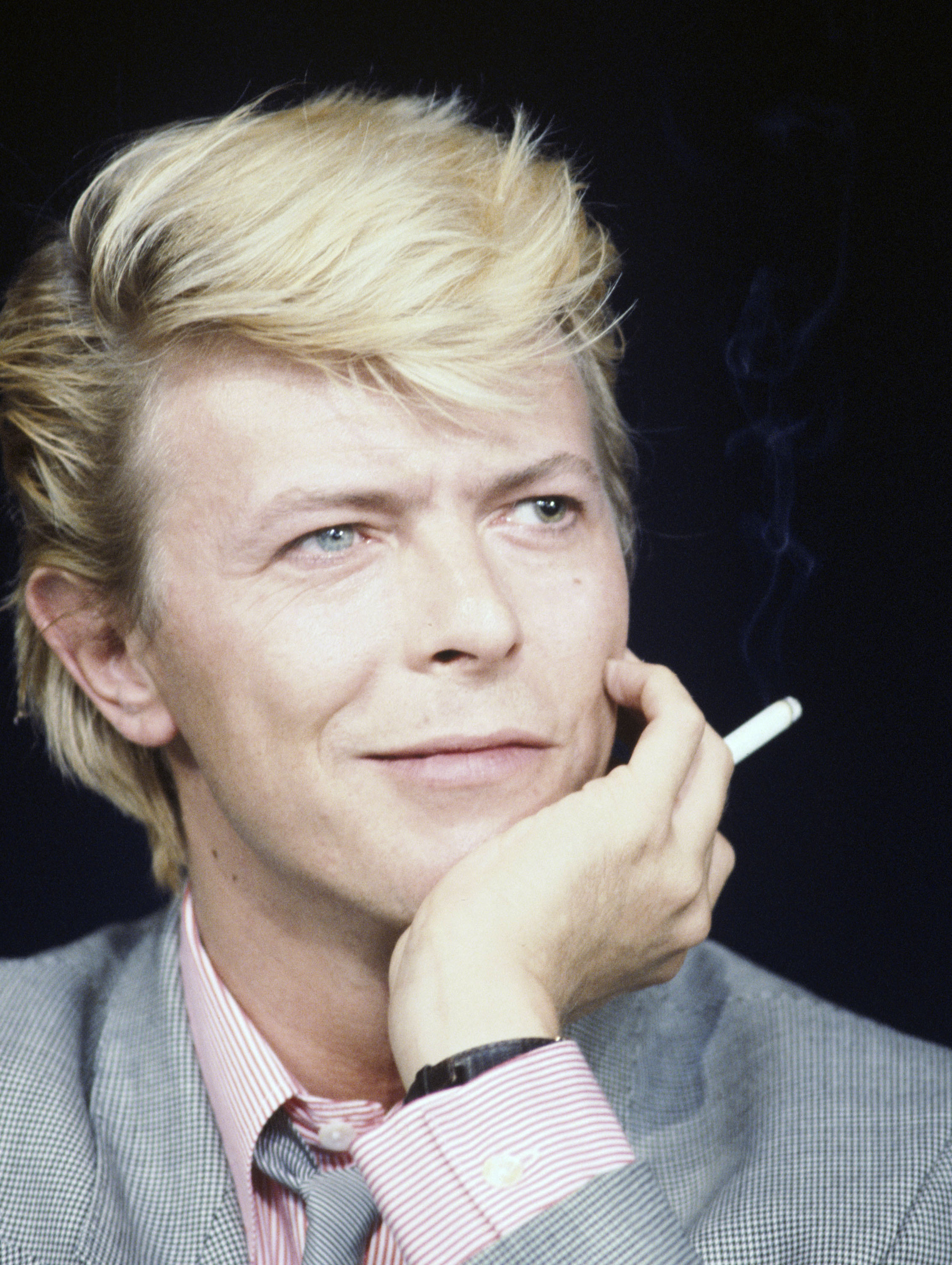 "51944267 Music legend David Bowie died after an 18 month battle with cancer on Sunday, January 10, 2016, just two days after his 69th birthday. ""Bowie was his generation's standard-bearer for rock as theater: something constructed and inflated yet sincere in its artifice, saying more than naturalism could. With a voice that dipped down to baritone and leapt into falsetto, he was complexly androgynous, an explorer of human impulses that could not be quantified."" (New York Times) File photos show Bowie throughout the years... Music legend David Bowie died after an 18 month battle with cancer on Sunday, January 10, 2016, just two days after his 69th birthday. ""Bowie was his generation's standard-bearer for rock as theater: something constructed and inflated yet sincere in its artifice, saying more than naturalism could. With a voice that dipped down to baritone and leapt into falsetto, he was complexly androgynous, an explorer of human impulses that could not be quantified."" (New York Times) File photos show Bowie throughout the years... Year: 1983 FameFlynet, Inc - Beverly Hills, CA, USA - +1 (310) 505-9876 RESTRICTIONS APPLY: USA ONLY"